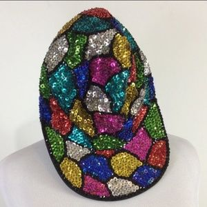 Vintage Multi-Colored Mosaic Hat